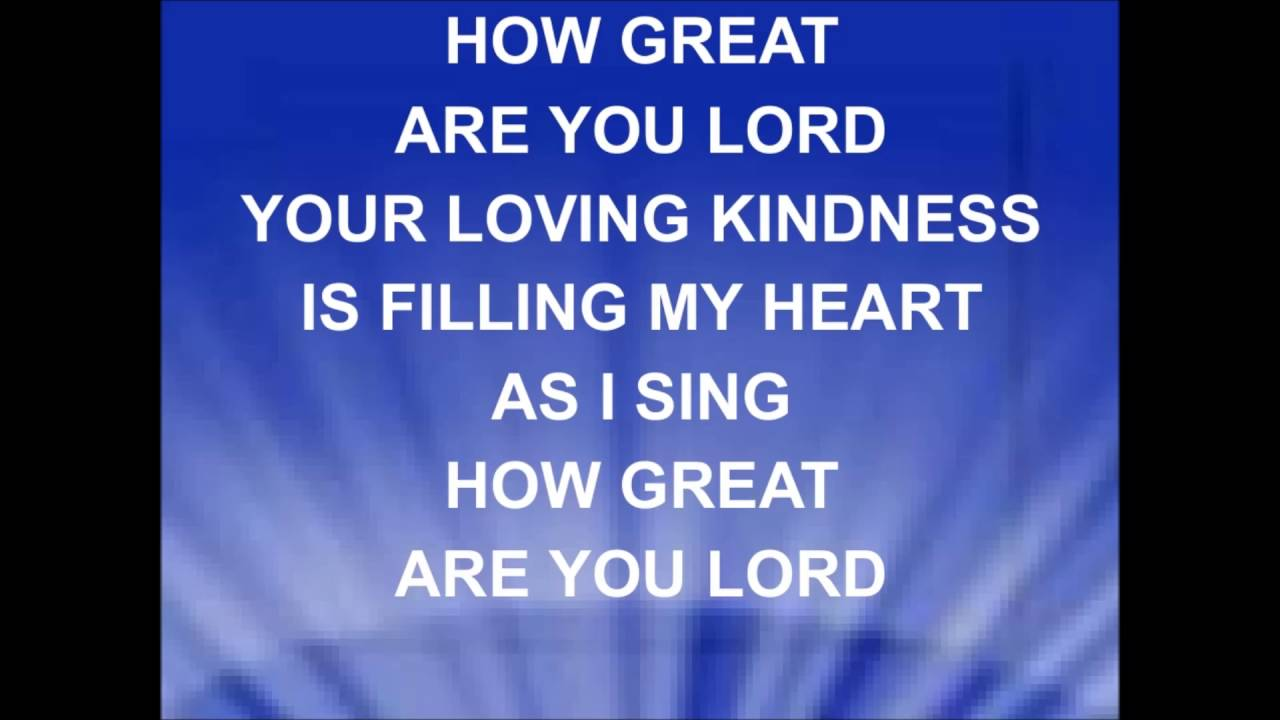 Great are you lord lyrics