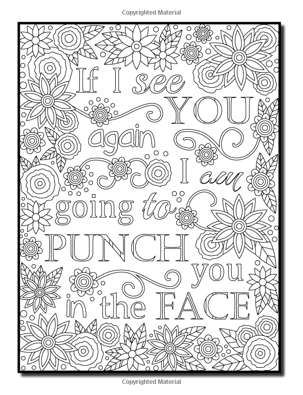 Funny adult coloring pages