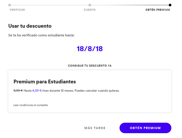 How to renew spotify student discount